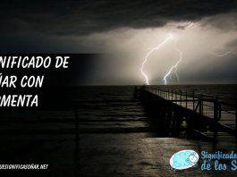 Soñar con tormenta